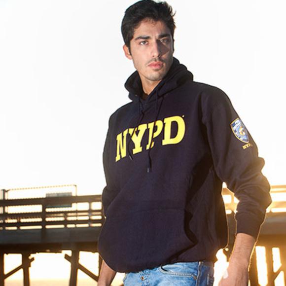 4624b58d NYPD Embossed Hooded Sweatshirt unisex hoodie NWT Boutique